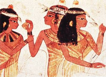 A photo of Egyptian women applying whitening creams in an effort to lighten their skin.