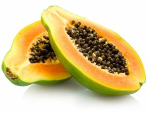 An image of a papaya that can be used to lighten underarms.