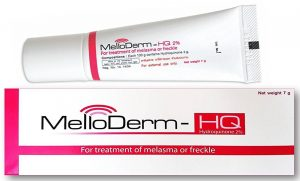 An image of Hydroquinone, a topical medication used to brighten skin and remove dark spots.