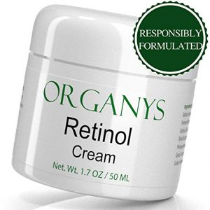 An image of Organys Retinol Cream bottle used for skin whitening and treating skin conditions
